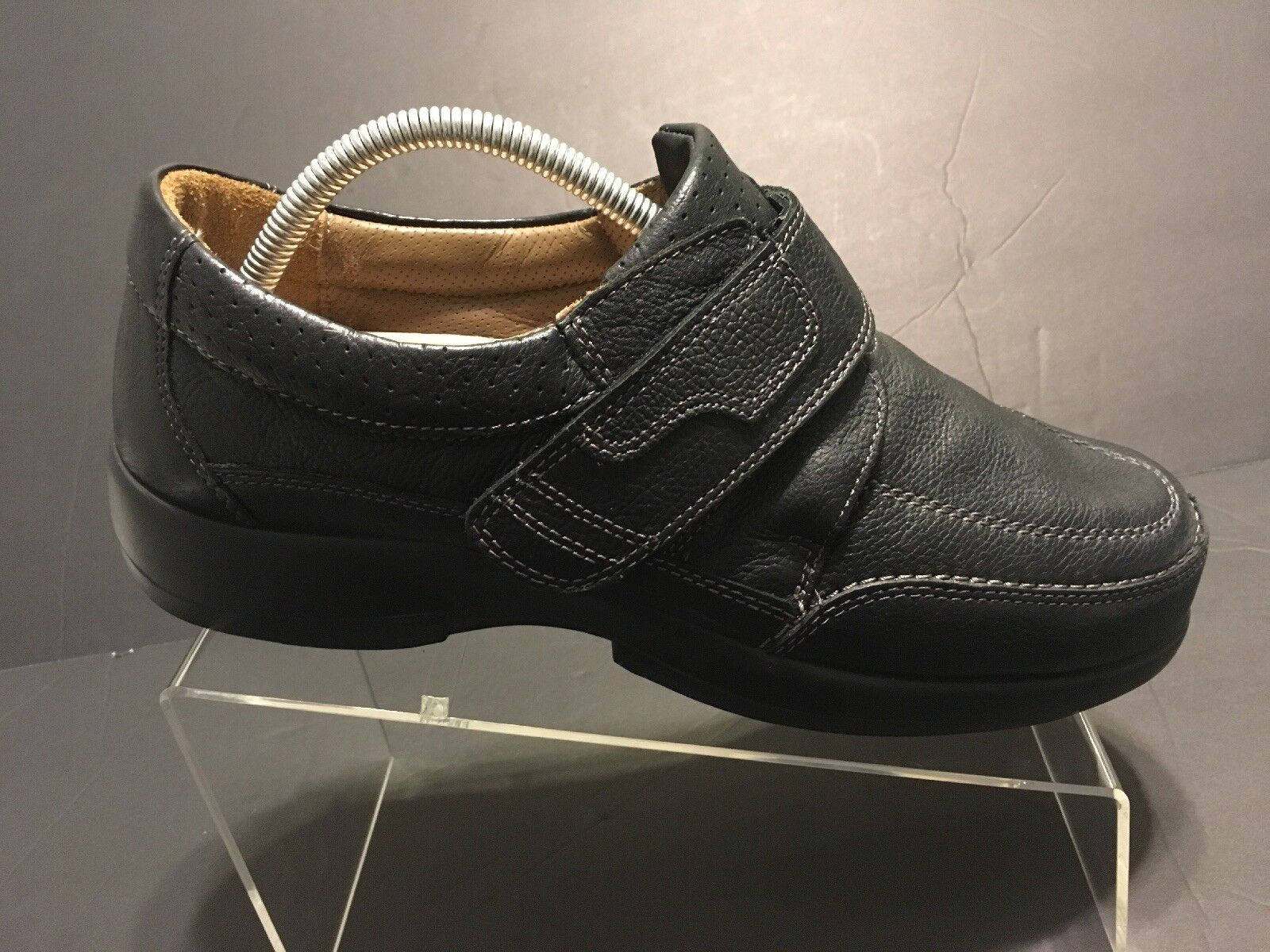 Areni One Black Leather Therapeutic Comfort shoes Mens Size 8 Wide 4E Made USA