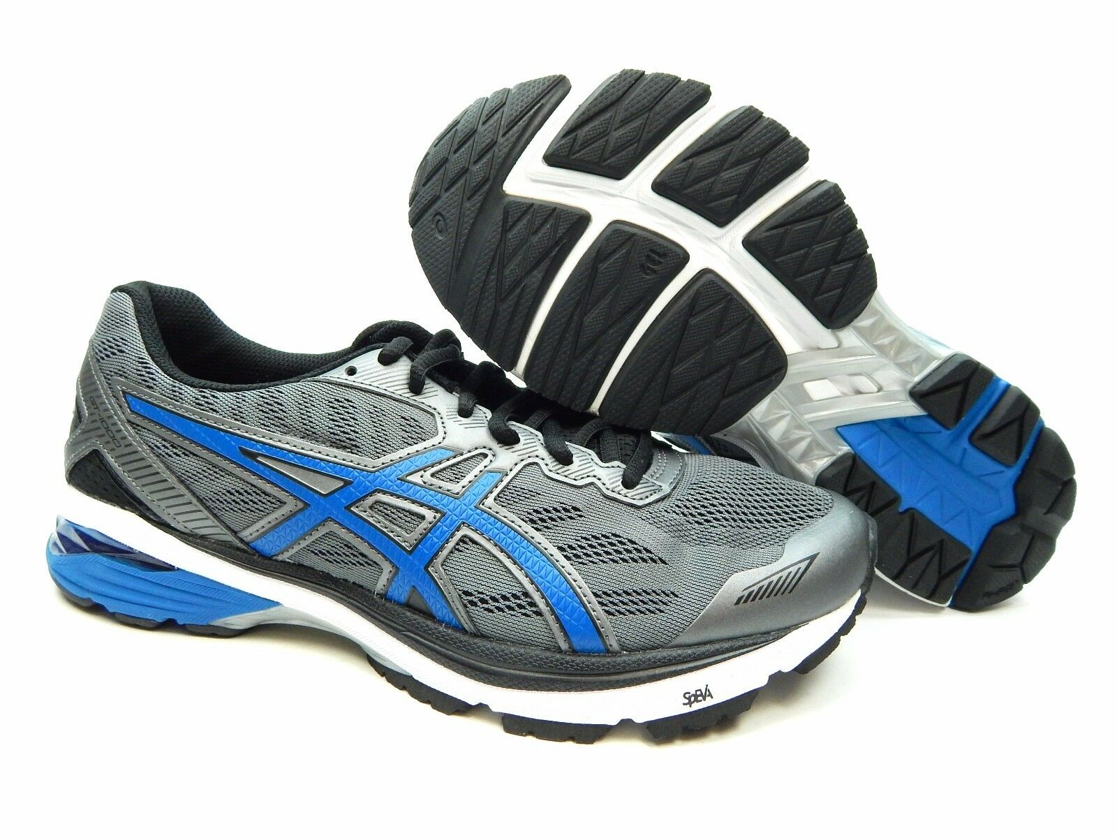ASICS GT 1000 5 T6A3N 9745 Carbono IMPERIAL Hombres Negros Zapatos y 7.5