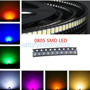 100PCS SMD SMT 3528 Yellow Super bright Yellow LED lamp Bulb NEW