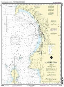 NOAA Chart Burlington Harbor 17th Edition 14785