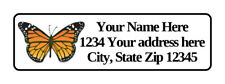 400 Personalized Monarch Butterfly Return Address Labels 12 Inch By 1 34 Inch