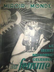 FEMMES-DE-FRANCO-BATISTA-TCHANG-KAI-CHEK-MUSSOLINI-BEGUM-MIROIR-DU-MONDE-1937