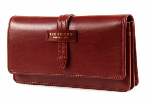 THE BRIDGE Florentin Ladie/'s Wallet L Geldbörse Rosso Ribes Rot Neu