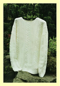CABLE /& LACE PULLOVER Sarah James Knitting Pattern WS102 Sweater Pattern Only