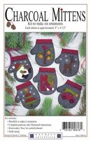 Charcoal Mittens - Six Ornaments - Rachel's Of Greenfield Kit