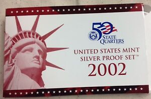 2002-US-MINT-SILVER-PROOF-SET-Complete-w-Original-Box-and-COA