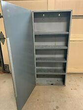 Repurposed Electrical Panel Cabinet Galvanized Shelves Industrial Decor