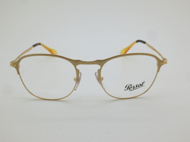 2f4ab8580f661 Authentic Persol 7007-v 1069 Gold RX 51mm Eyeglasses for sale online ...
