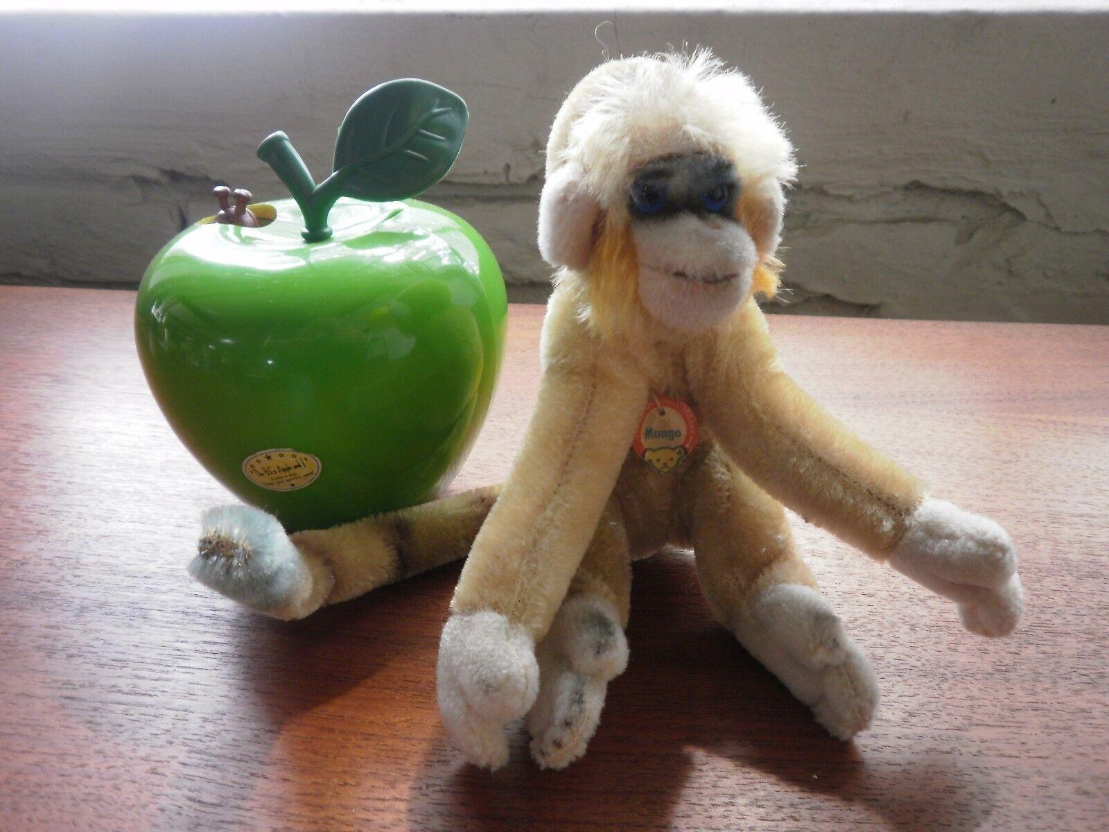 Steiff Scimmia Mungo COLORATO Scimmia multi-color 60er True Vintage sammelwürdig PELUCHE