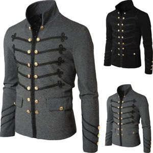 Men-039-s-Double-Breasted-Medieval-Cosplay-Jacket-Steampunk-Gothic-Victorian-Coat