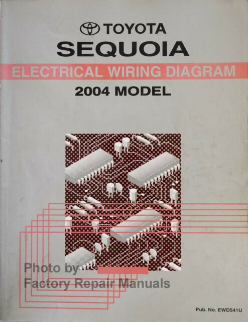 2004 Toyota Sequoia Electrical Wiring Diagrams Original Manual