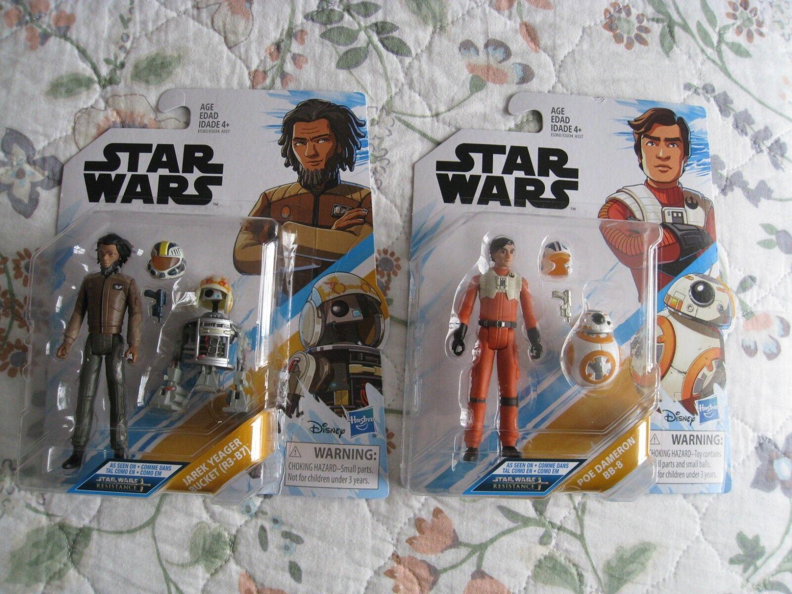 Star - wars - widerstand poe dameron & bb-8 mit jarek yeager & r3-b7
