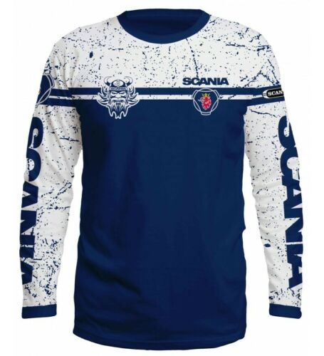 T-Shirt Langarm SCANIA Truck Herren Bluse Crew-Neck LKW Driver S,M,L,XL,XXL,XXXL