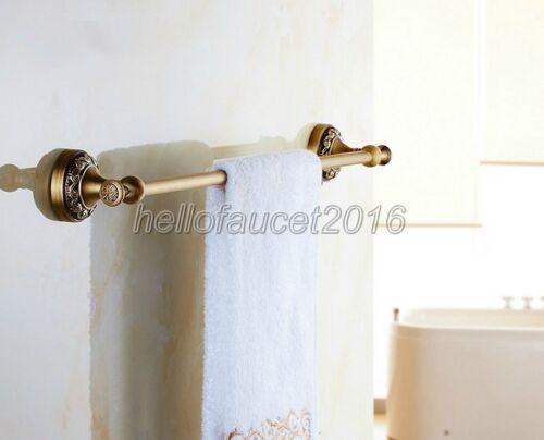 Antique Brass Single Towel Bar Rack Bathroom Wall Mounted Towel Holder Lba482