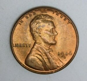 1946 Lincoln Wheat Cent About Uncirculated Penny AU