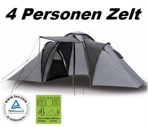 TOP Family-Zelt - Adventure -   - 4 Personen Familienzelt 6316ab