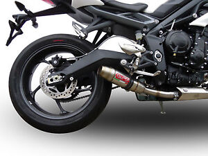 silencieux gpr deeptone inox triumph street triple 675 2013 16 ebay. Black Bedroom Furniture Sets. Home Design Ideas