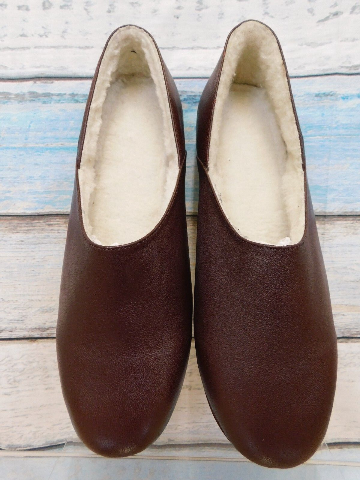 Samuel Windsor new in box burgundy leather slippers UK 13 with shoe horn