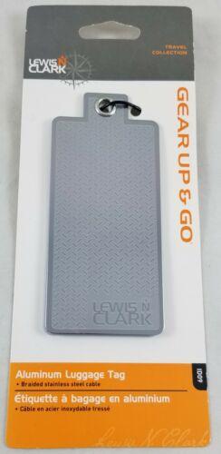 Clark Aluminum Luggage Backpack Bag ID Tag Travel Secure New Lewis N