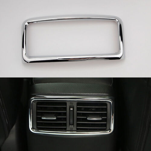 For Nissan Rogue X-Trail 14-2018 Chrome ABS Rear Air Outlet AC Vent  Cover Trim