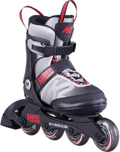 K2 Inlineskates Rollschuhe RAIDER Kinder Inline Skate Inlineskates Grau 35-40