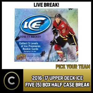 2016-17-UPPER-DECK-ICE-5-BOX-HALF-CASE-BREAK-H327-PICK-YOUR-TEAM