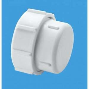 "McAlpine Multifit 11/2"" (40mm) Waste Pipe Blank End Hand Tighten T23U"