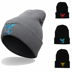 Pokemon-Team-Womens-Mens-Beanie-Caps-Winter-Warm-Ski-Knitted-Hat-Wool-Cap-New