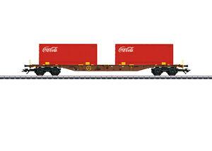 Maerklin-H0-47434-Containertragwagen-034-Coca-Cola-034-der-AAE-034-Neuheit-2019-034-NEU-OVP