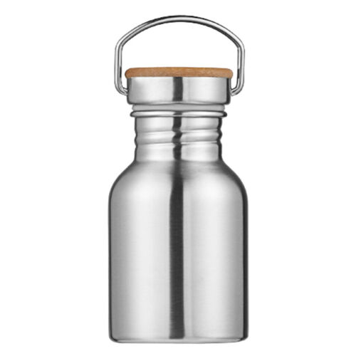Stainless Steel Water Bottle Double Wall Sports Gym Metal Flask with Hanger