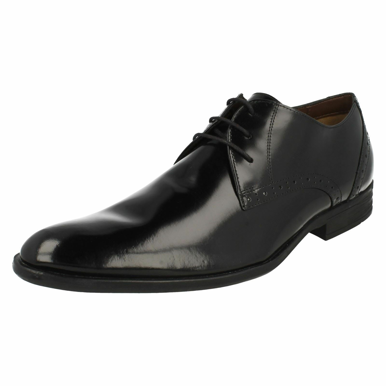 Mens KENSINGTON Black leather lace up shoes By Hush Puppies £ 45.00