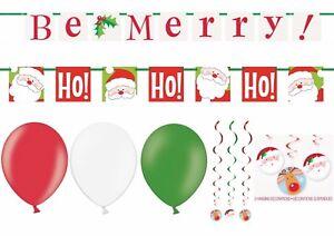 5 FT (ca. 1.52 m) HO HO essere Merry Babbo Natale Blocco BANNER Decorazione Natale PALLONCINI ROSSO VERDE  </span>