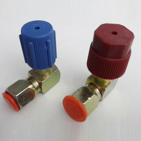 A/c High & Low Side Coupler R12 to R134a Adapter 90 Degrees Quick Connector
