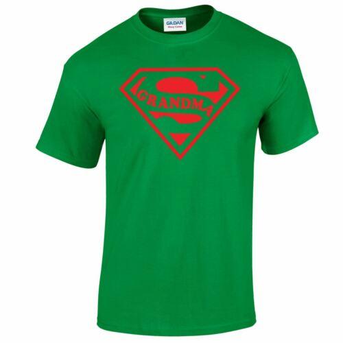 SupermanGrandMA T Shirt Gold Silver jubilee Mothers Day Funny Top TEE Tshirt