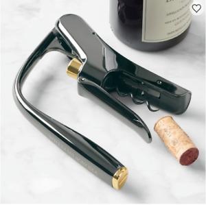 NIB!Williams Sonoma Lever Wine Opener GUNMETAL FINISH W