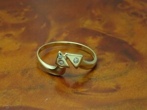 14kt-585-GOLD-RING-MIT-BRILLANT-BESATZ-BRILLANTRING-DIAMANTRING