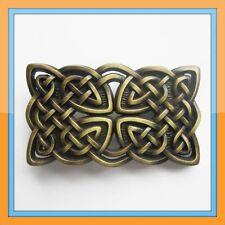 IRISH CELTIC KNOTS GOLD CROSS MEDIAVAL BELT BUCKLE