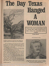 San Patricio, Texas - Site of First Woman Hanging+Judge Benjamin Neal*