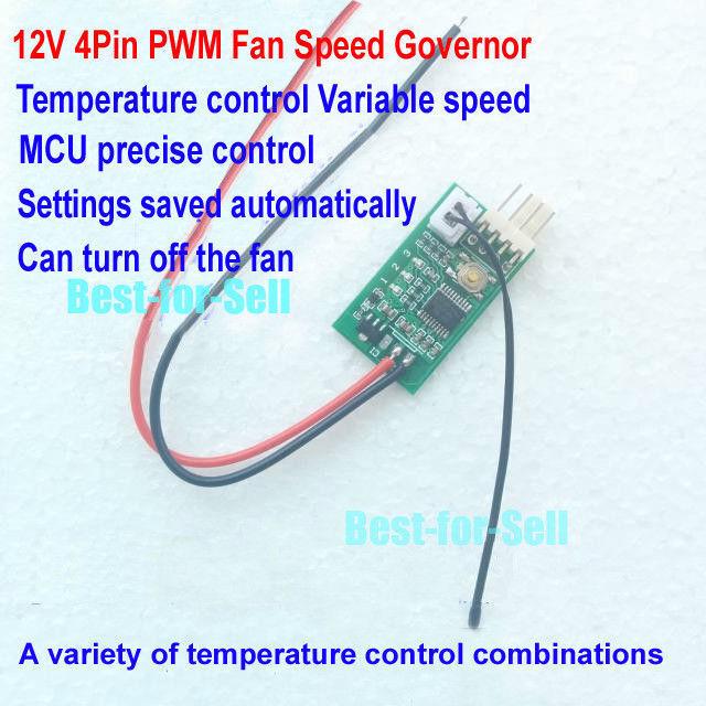 DC 12v 3a 4pin PWM PC CPU Fan Temperature Control Thermostat Speed ...