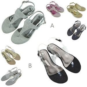 Womens-Flat-Holiday-Toe-Post-Sandals-Ladies-Flip-Flops-Beach-Casual-T-bar-Shoes
