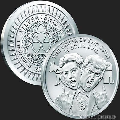 1 oz Silver Shield Mini-Mintage PROOF rounds .999 fine silver 2019 In-Q-Tel