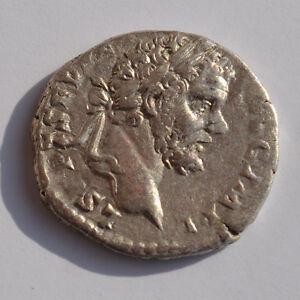 Gewissenhaft Rom, Septimius Severus 193-211, Denar, A12857 Gesundheit FöRdern Und Krankheiten Heilen