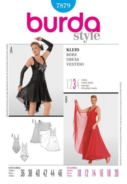 Burda Ballroom Dance Dress Pattern 7879 Tango Latin Salsa Ballet ...