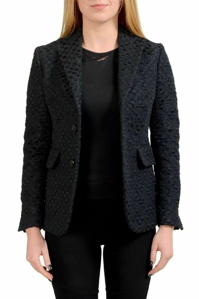 Dsquared2 Neri da Donna Blazer a Due Bottoni USA S It 40