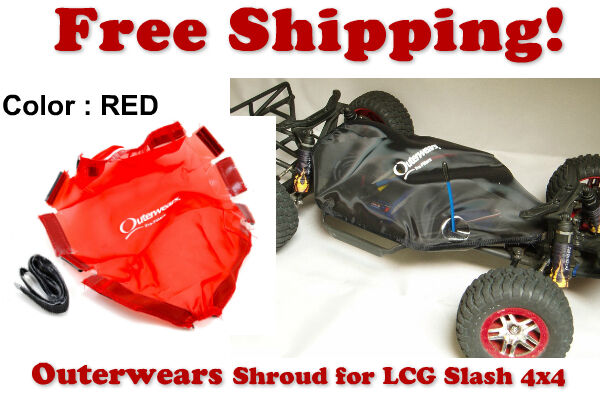 Chassis Shroud Shroud Shroud by Outerwears 20-2844-03 RED- Traxxas Slash LCG Chassis f48ce5
