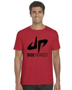 Dude-Perfect-YouTuber-YouTube-Kids-T-Shirt-Tee-Top-Black-Print-Ages-3-13