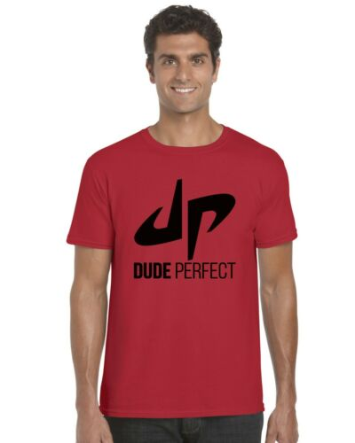 Black Print Dude Perfect YouTuber YouTube Kids T-Shirt Tee Top Ages 3-13