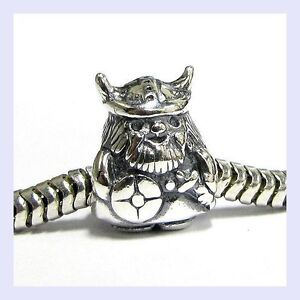 Queenberry Sterling Silver Viking Warrior European Style Bead Charm 86eGf