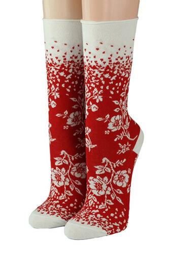 socquettes Cays Design Fleurs de cours 18705 Crönert longsocks