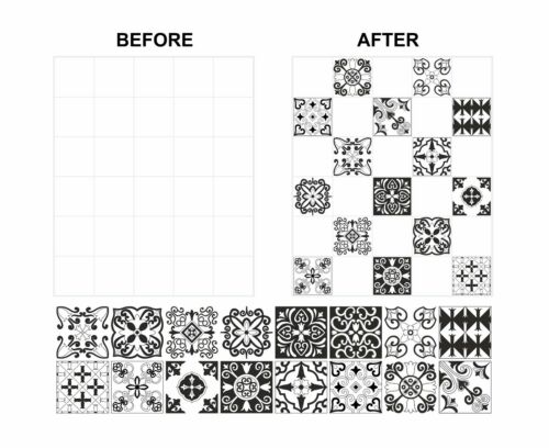 """Mosaic Pattern Stickers Transfers For 200mm x 200mm 8/"""" x 8/"""" inch Tiles GT17"""